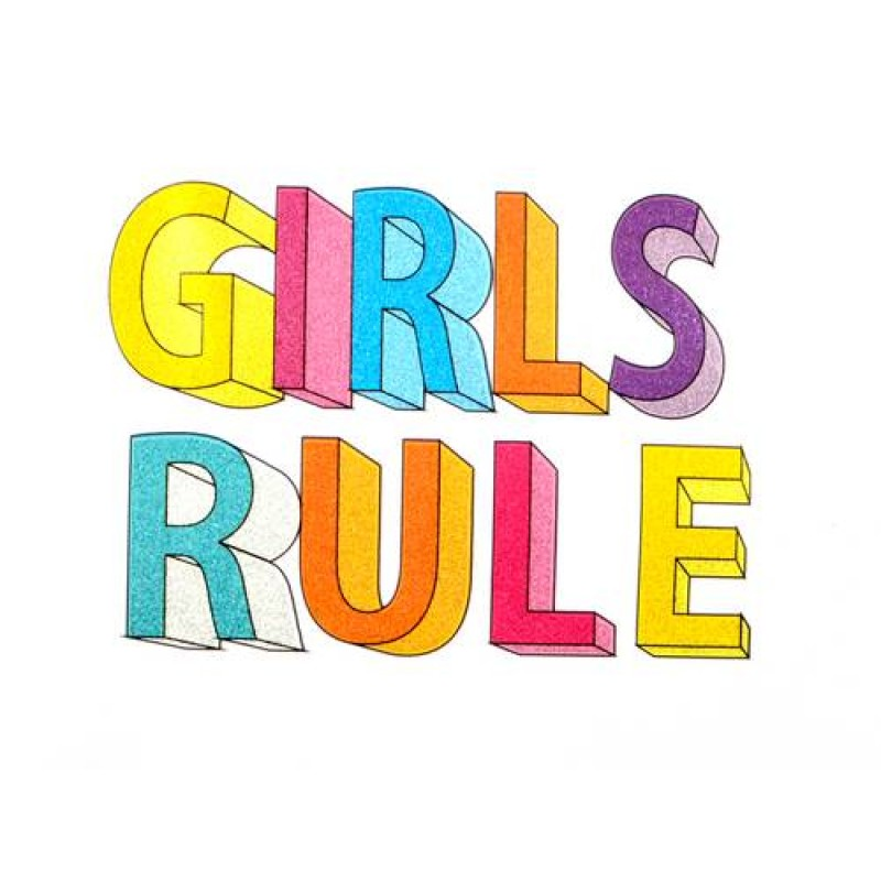 Термотрансфер GIRLS RULE  7х9см