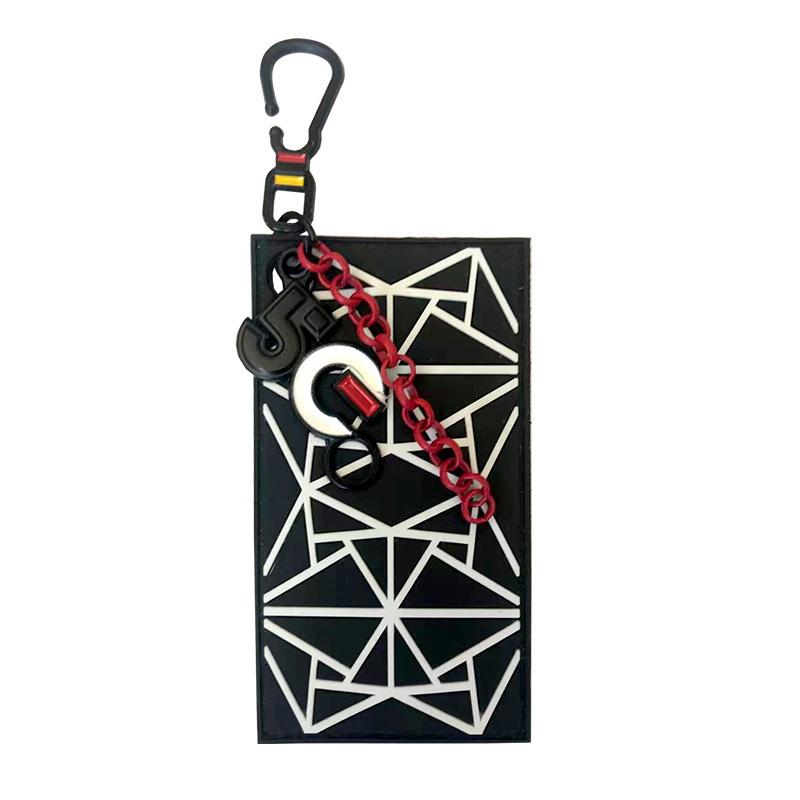 """Декоративная навеска силикон на металлическом крючке """"Геометрия"""" 9*5см, цв:черный/белый"""