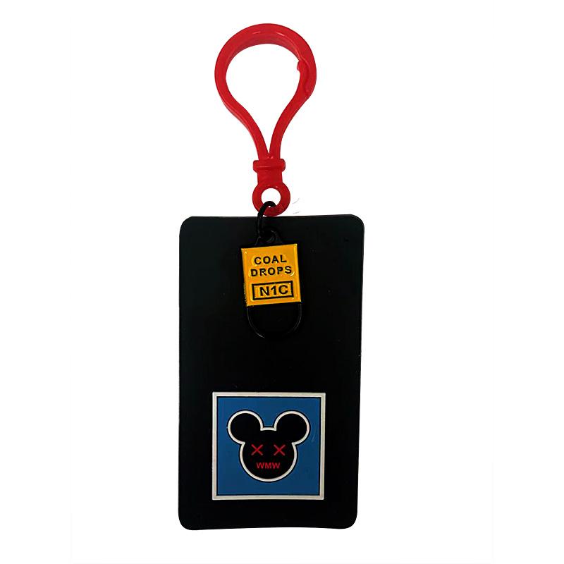 """Декоративная навеска силикон на пластиковом кручке """"Микки Маус"""", цв:черный/голубой/красный"""