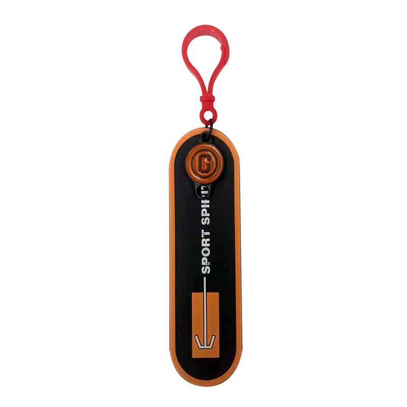 """Декоративная навеска силикон на пластиковом крючке """"SPORT SPIRIT"""" 11,5*3,5см, цв:черный/оранжевый"""