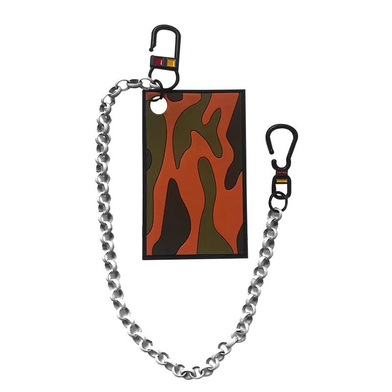 Декоративная навеска силикон на металлическом двухстороннем крючке с цепочкой 8*5см, цв:коричневый/хаки