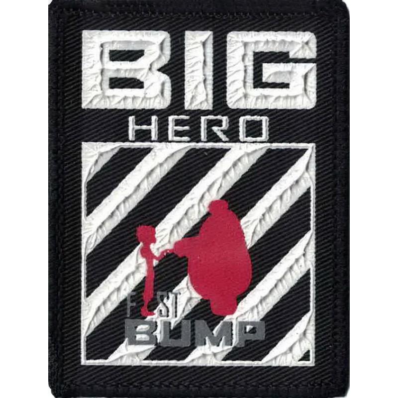 """Нашивка декоративная 7,5*6см принт пластизоль 3D """"BIG HERO"""", цв:черный/белый/красный"""