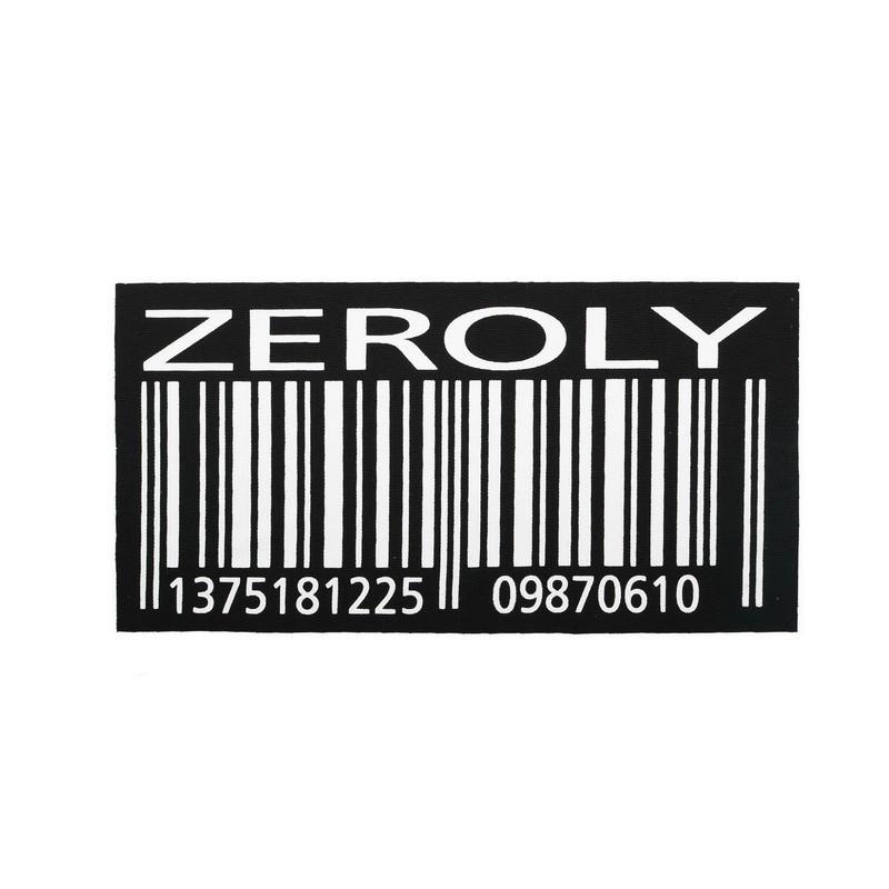 """Нашивка декоративная 12*23,5см с принтом """"ZEROLY"""", цв: черный/белый"""