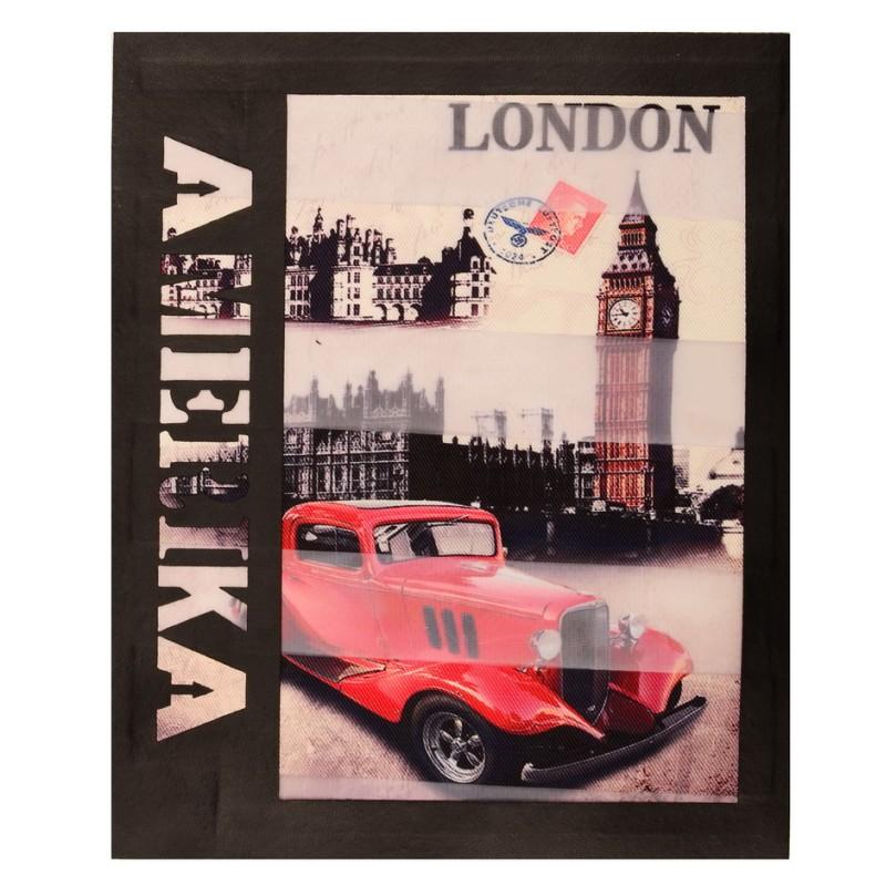 Нашивка LONDON 19*23см, цв: черный
