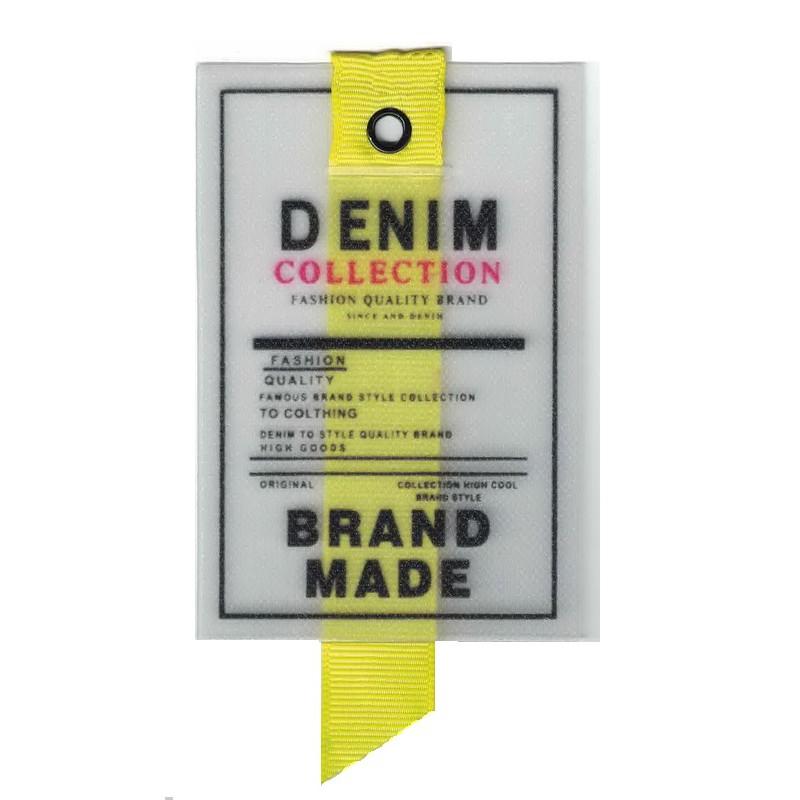 """Нашивка силикон/желтый репс """"BRAND MADE"""" 10,5*7см , цв:прозрачный/черный"""