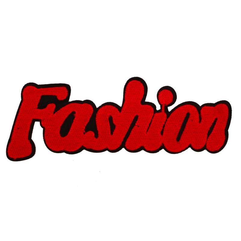 Нашивка FASHION 10,5*27см, цв: красный