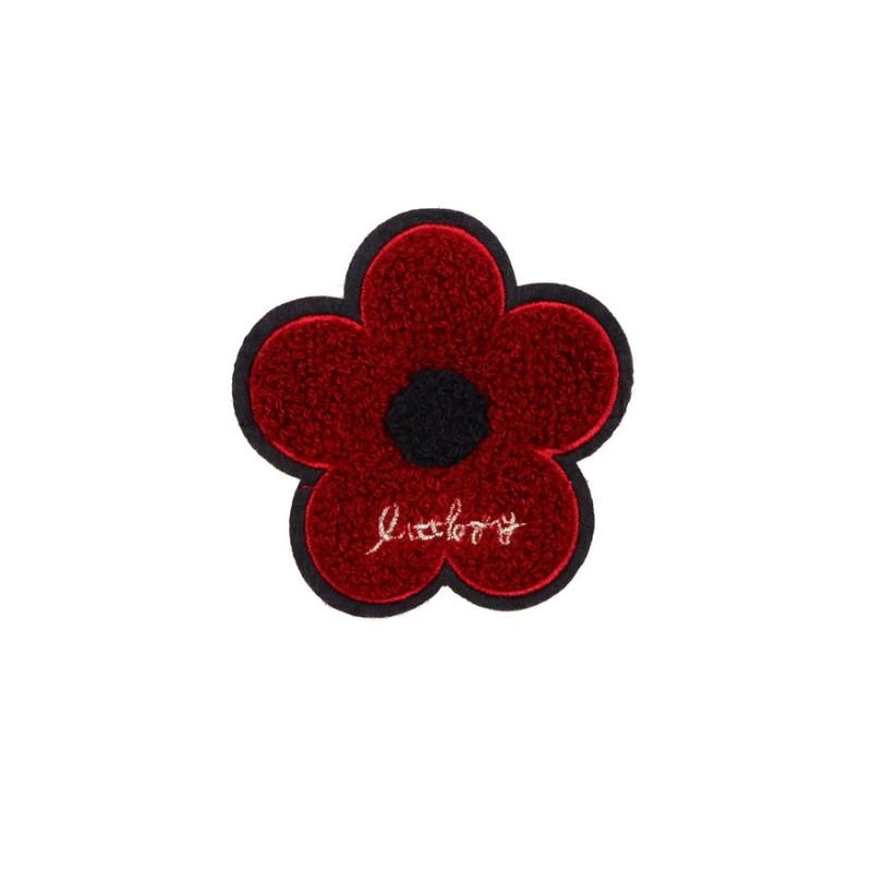Нашивка цветок 9*9см, цв: бордовый