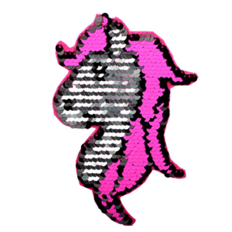 Нашивка ЕДИНОРОГ 13*9см, цв: розовый