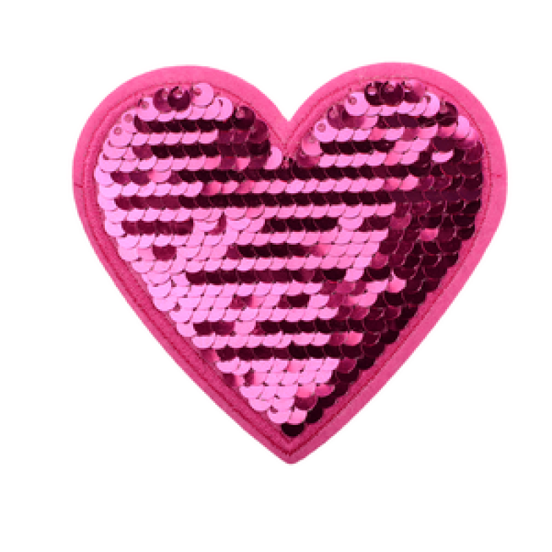 Нашивка СЕРДЦЕ 8*8см, цв: розовый