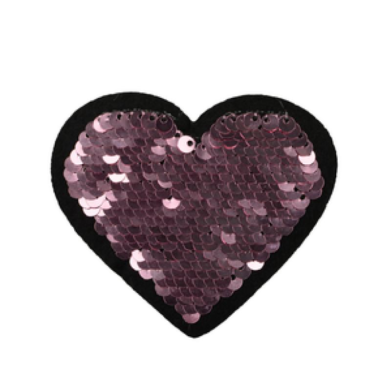 Нашивка СЕРДЦЕ 7*7,5см, цв: розовый
