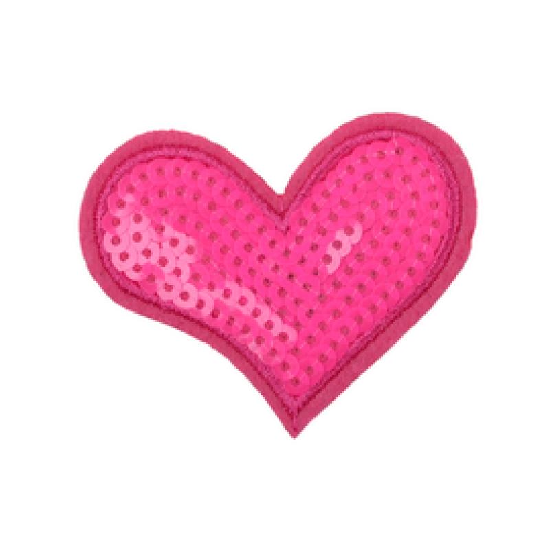 Нашивка СЕРДЦЕ 5,5*6,5см, цв: розовый