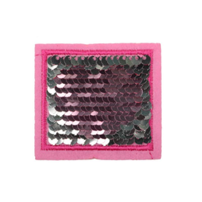 Нашивка КВАДРАТ 5*5,5см, цв: розовый
