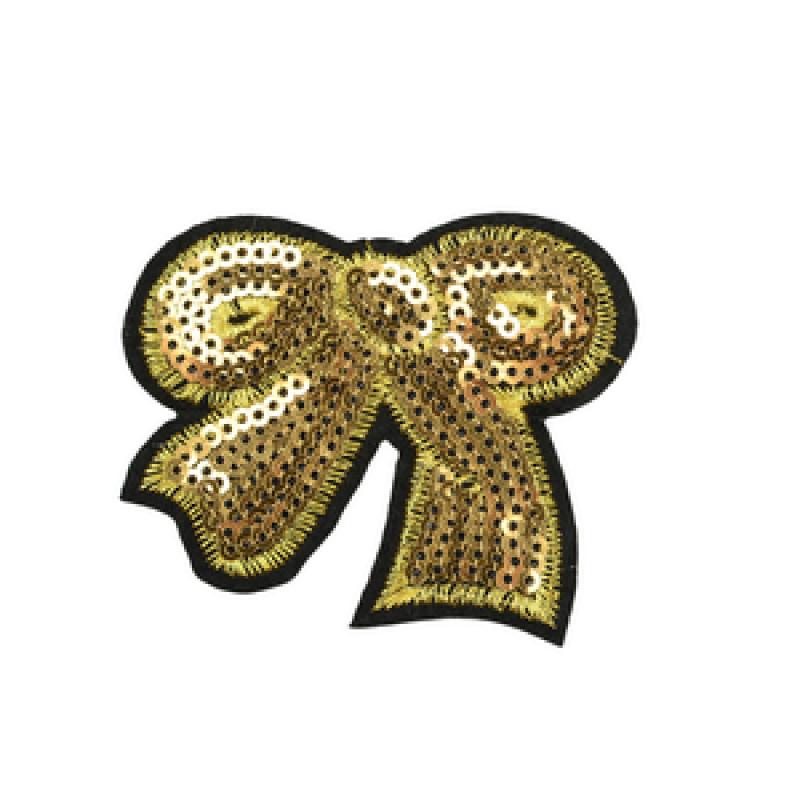 Нашивка БАНТ 5*6см, цв: золотой