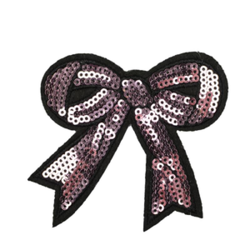 Нашивка БАНТ 7*7,5см, цв: розовый