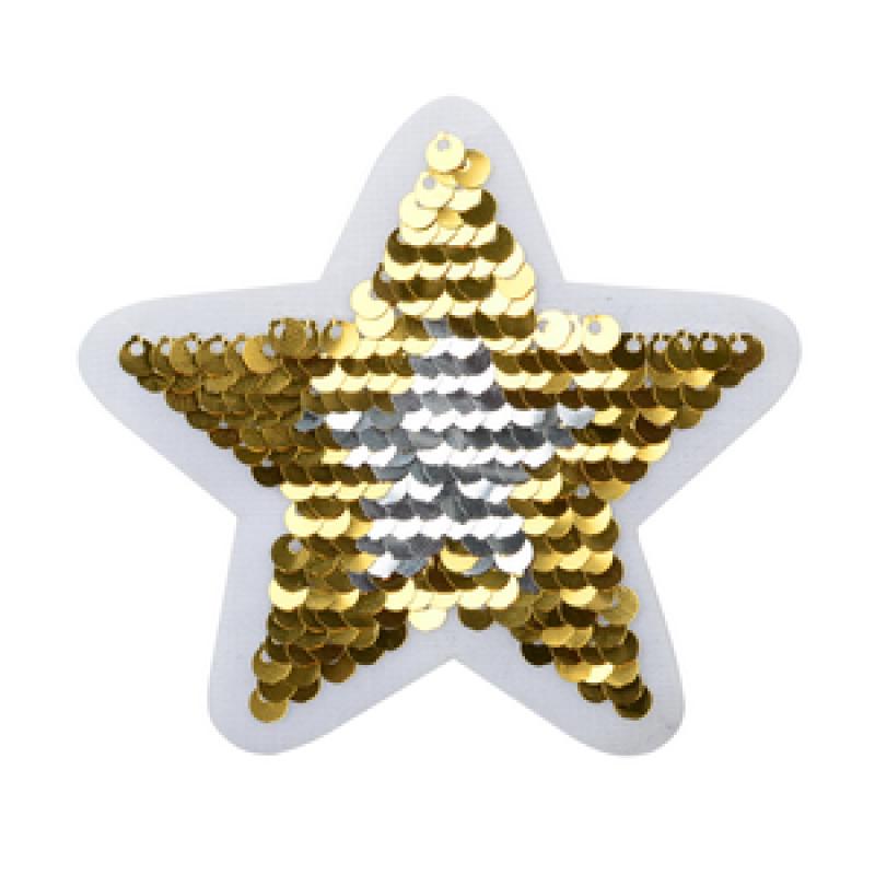 Нашивка ЗВЕЗДА 8*8см, цв: золотой