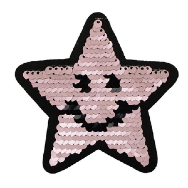 Нашивка ЗВЕЗДА 9*9см, цв: матовый розовый