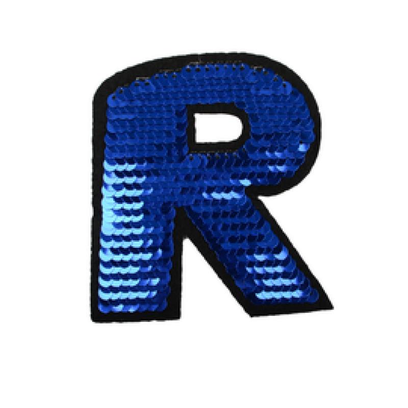 Нашивка БУКВА R 8,5*8см, цв: синий