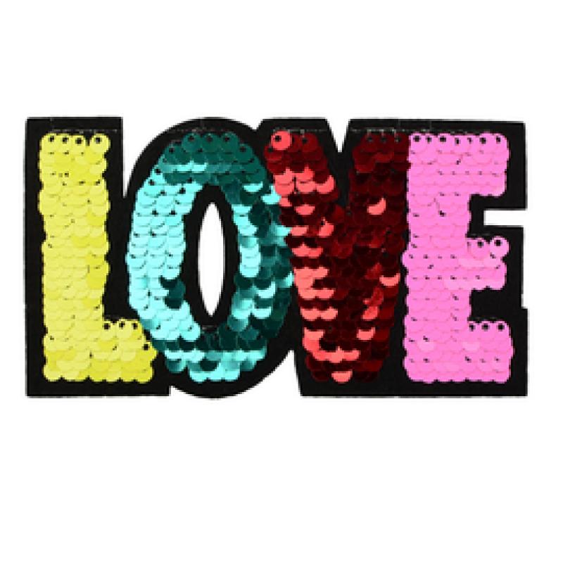 Нашивка LOVE 6*11см, цв: мультиколор