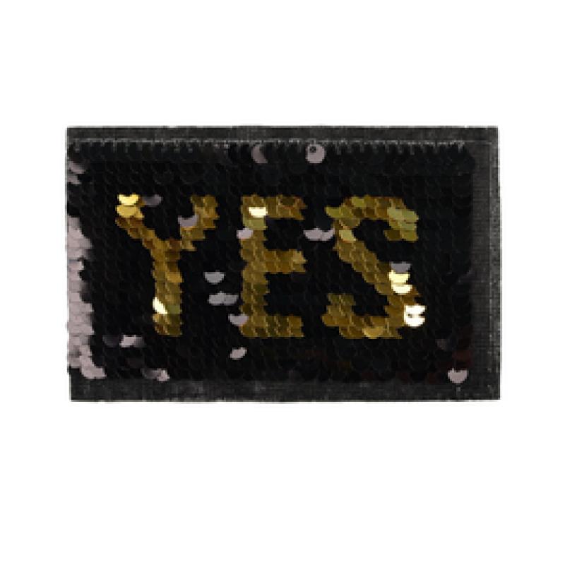 Нашивка YES 5,5*9см, цв: черный