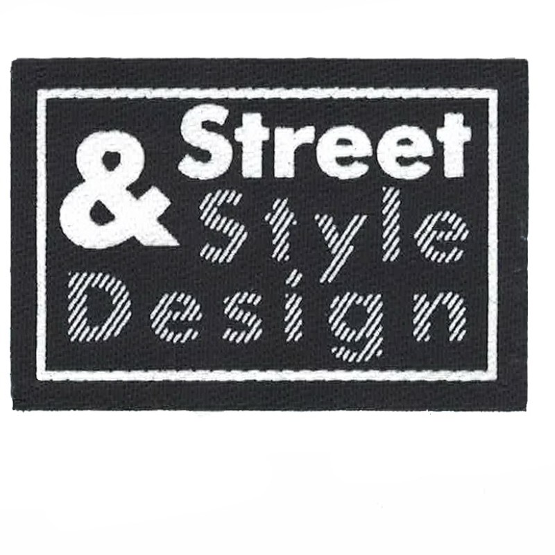 Нашивка декоративная 4*6 см, принт Street&Style Design, цв:черный/белый