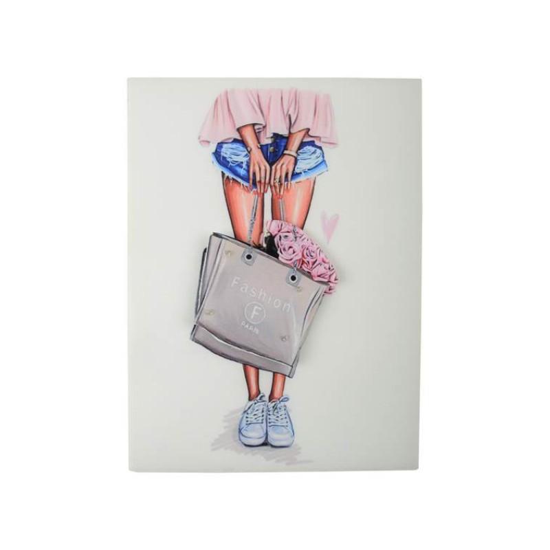 Нашивка 3D сумка с розами 22,5х17см