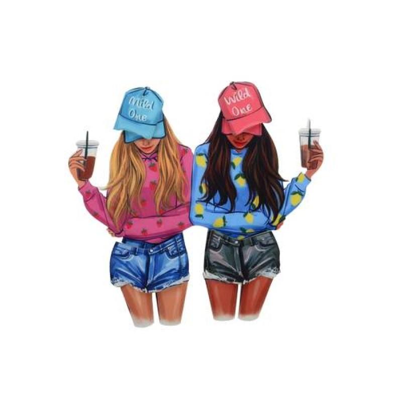 Нашивка 3D девочки в шортах 23,5х25см