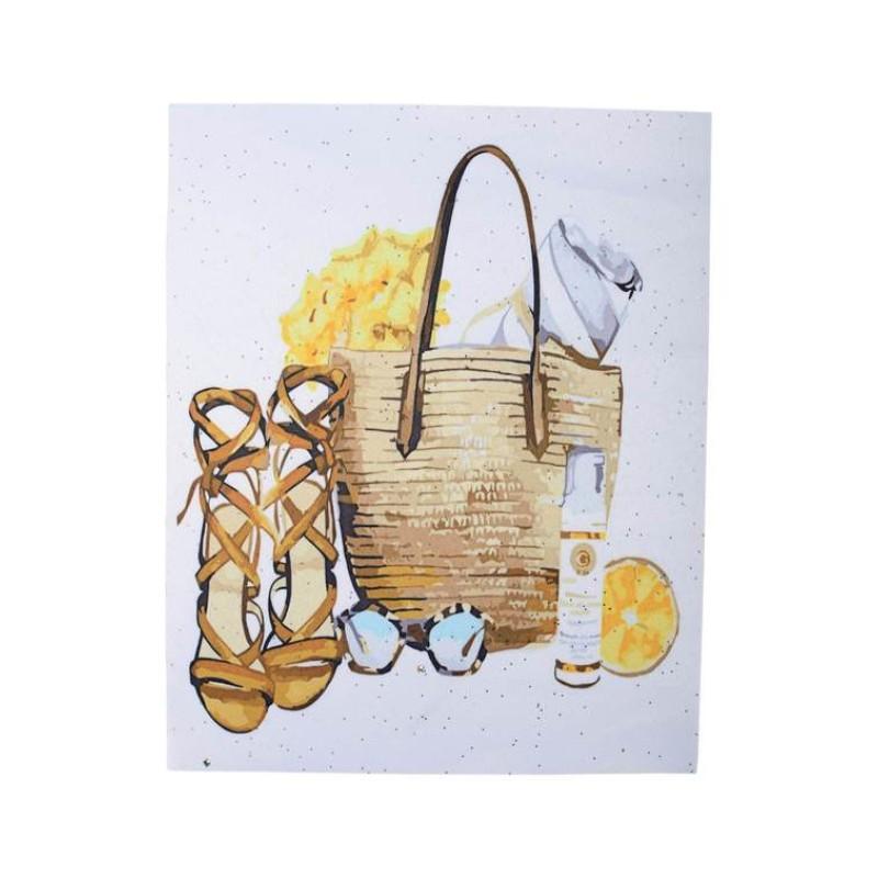 Нашивка сумка и босоножки 25,5х20см