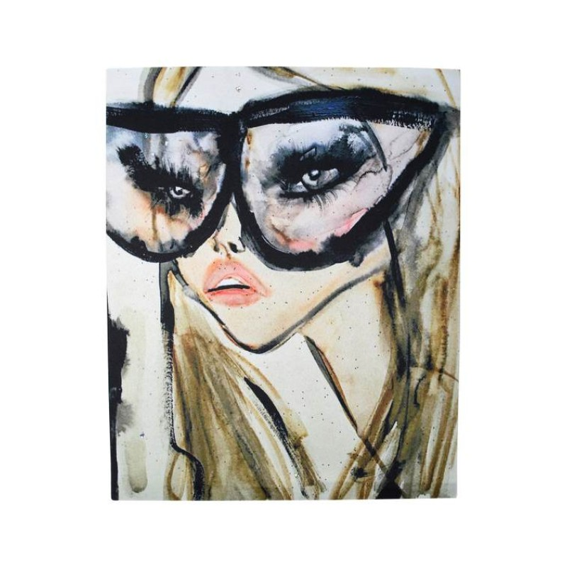 Нашивка дама в модных очках 25,5х20см