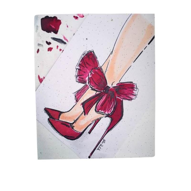 Нашивка туфли с бантиком 25,5х20см
