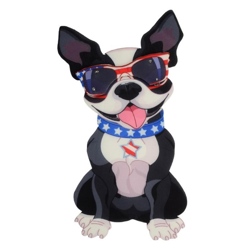 Нашивка 3D собака в очках, размер 24*13см
