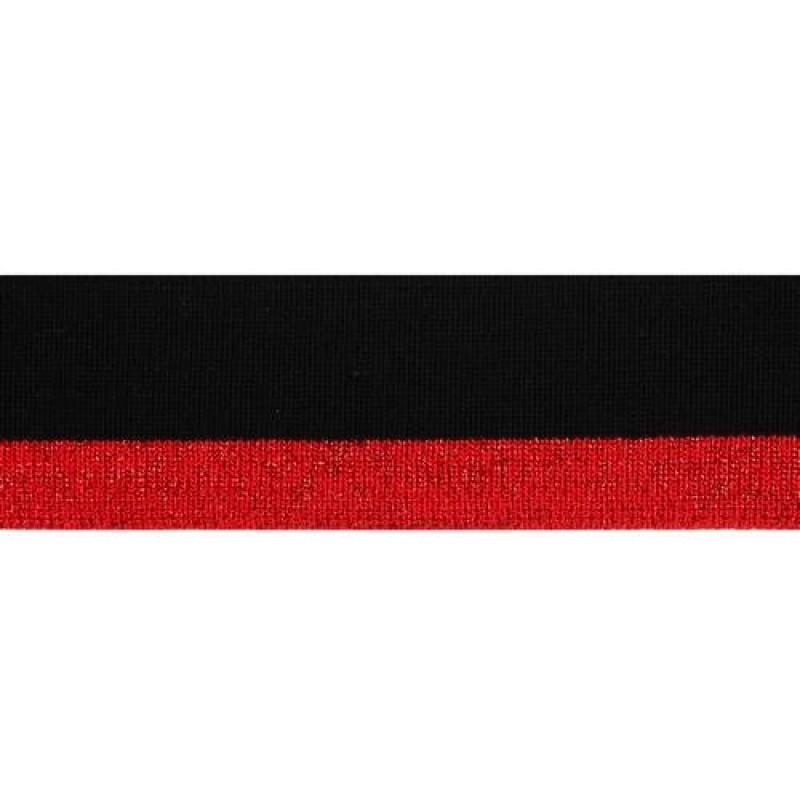 Подвяз акрил с люрексом 1*1 , 3*100см, цв: черный/красный