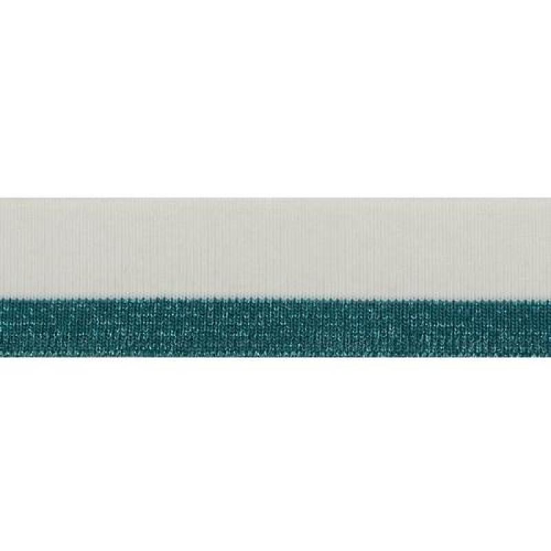 Подвяз из акрила с люрексом, переплетение 1*1, двухцветный