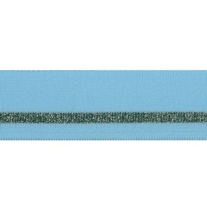 Подвяз полиэстер с люрекс 4*100см, цв: голубой