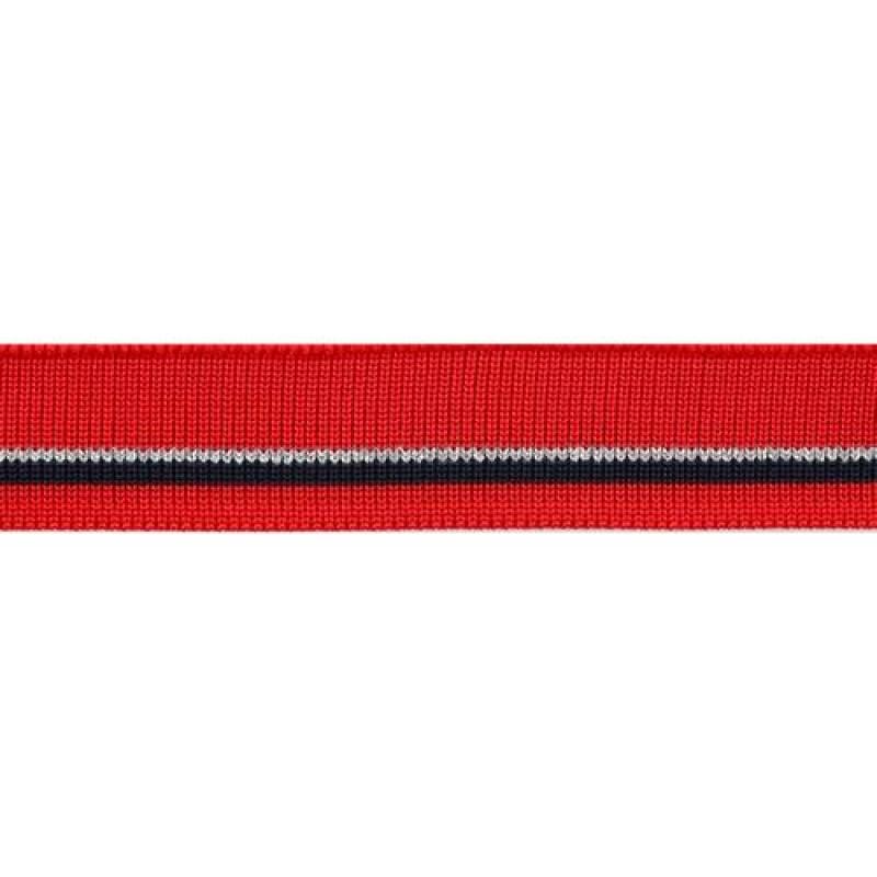 Подвяз полиэстер с люрекс 1*1, 2*100см, цв: красный