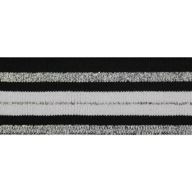 Подвяз акрил с люрекс 1*1, 4*100см, цв: серый