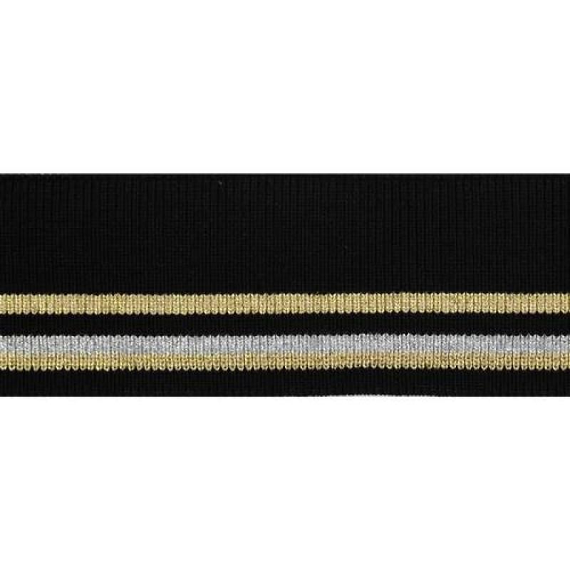 Подвяз акрил с люрекс 1*1, 4*100см, цв: черный