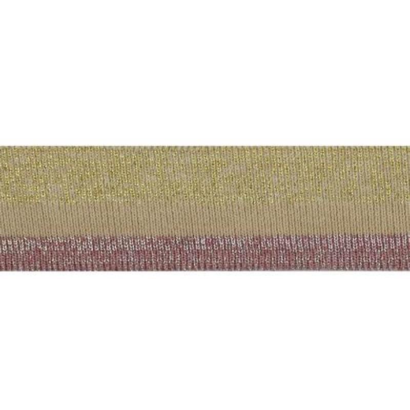 Подвяз полиэстер с люрекс 1*1, 3*100см, цв: бежевый