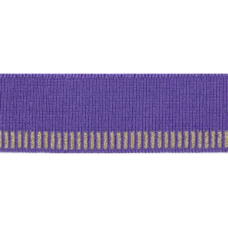Подвяз акрил с люрекс 1*1, 3*100см, цв: фиолетовый