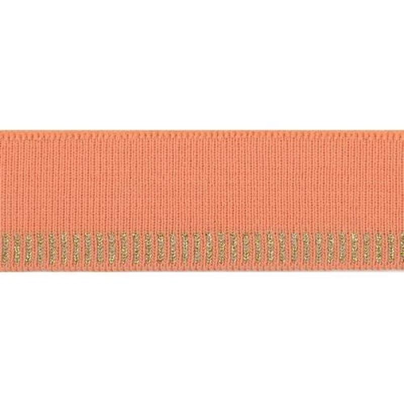 Подвяз акрил с люрекс 1*1, 3*100см, цв: оранжевый