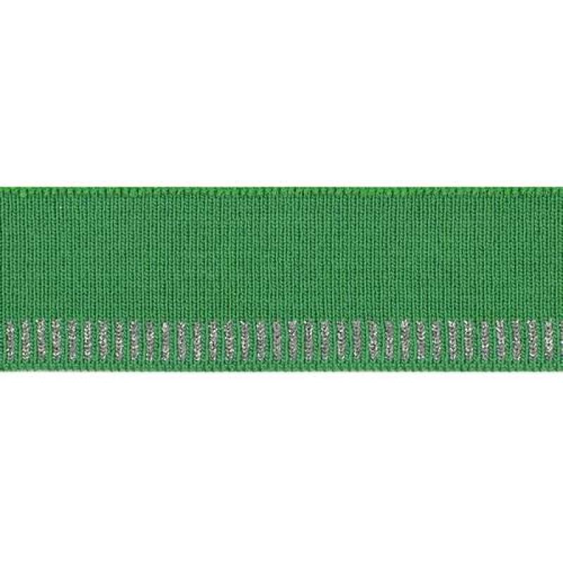 Подвяз из хлопка с люрексом, переплетение комбинированное, двухцветный