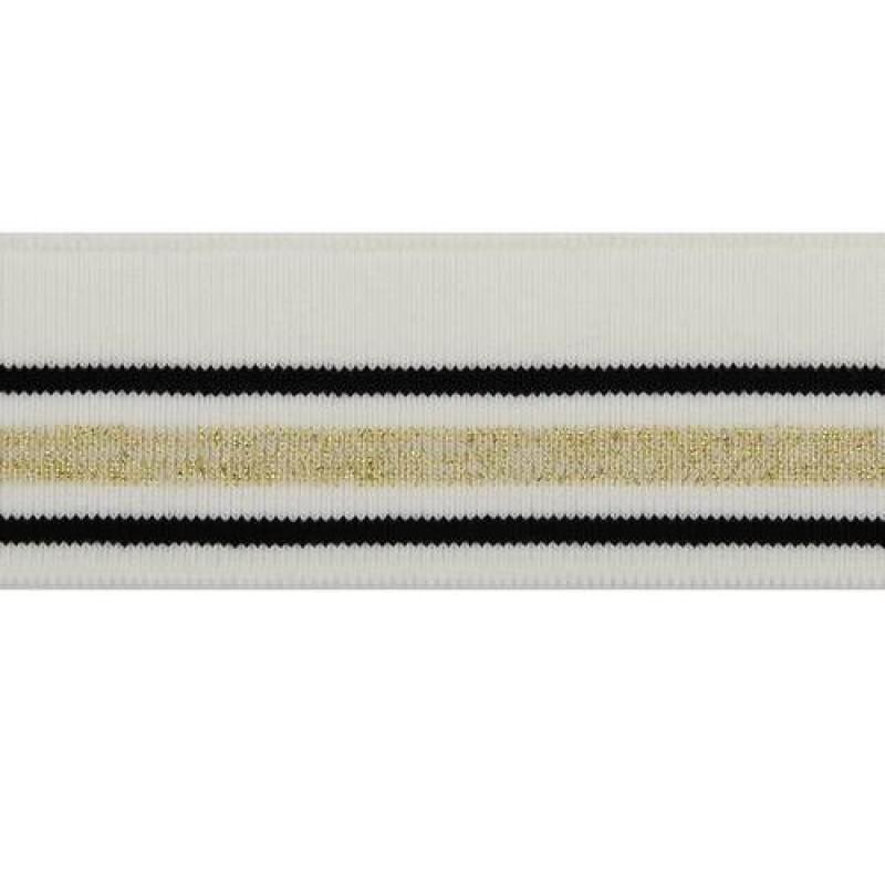 Подвяз акрил с люрекс 1*1, 4,5*100см, цв: молочный