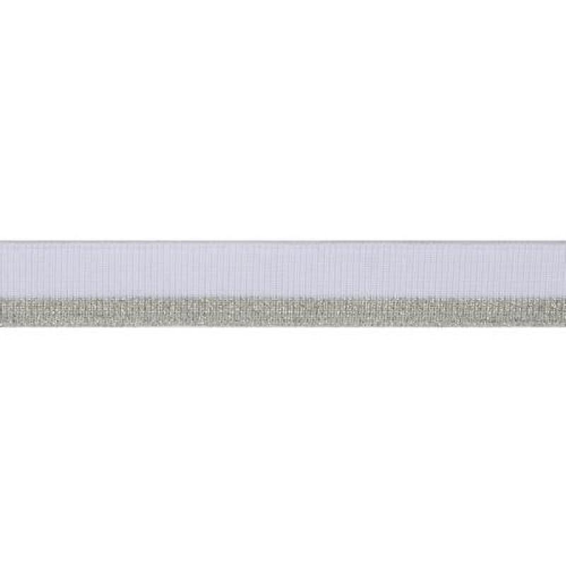 Подвяз полиэстер с люрекс 1*1, 2*120см, цв: белый/серебр.люрекс