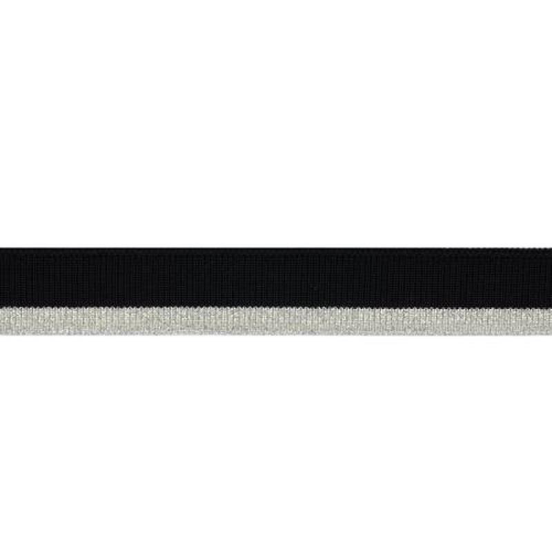 Подвяз из полиэстера с люрексом, переплетение 1*1, двухцветный