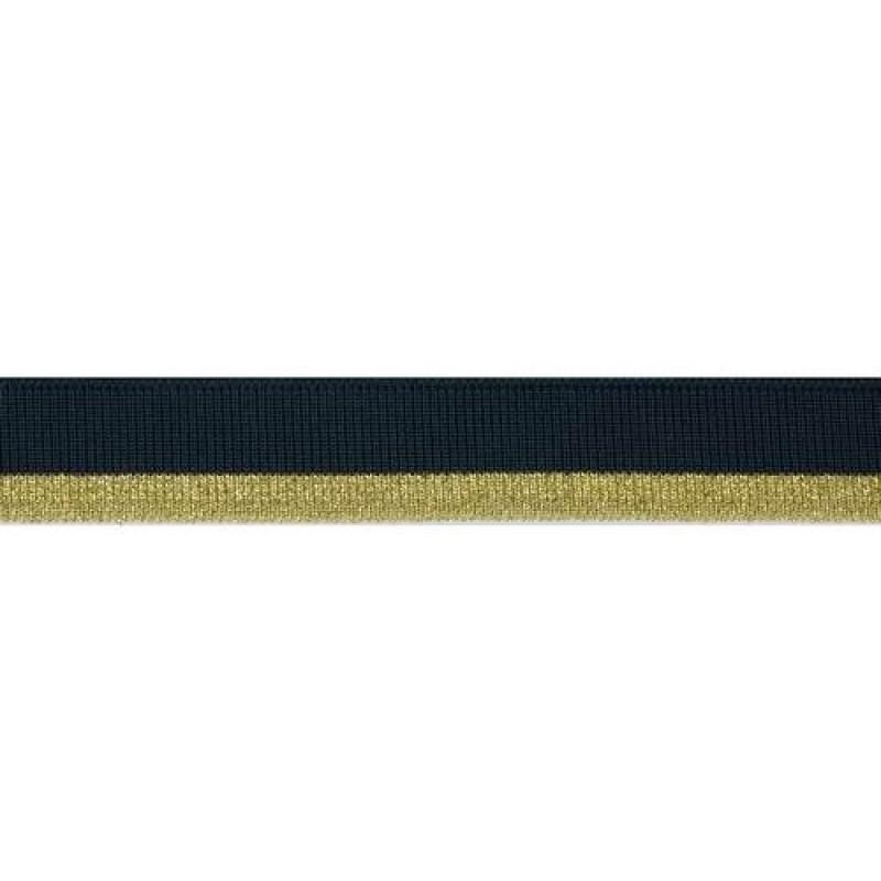 Подвяз 1*1 полиэстер 2*120см, цв:изумруд/белый/люрекс золото