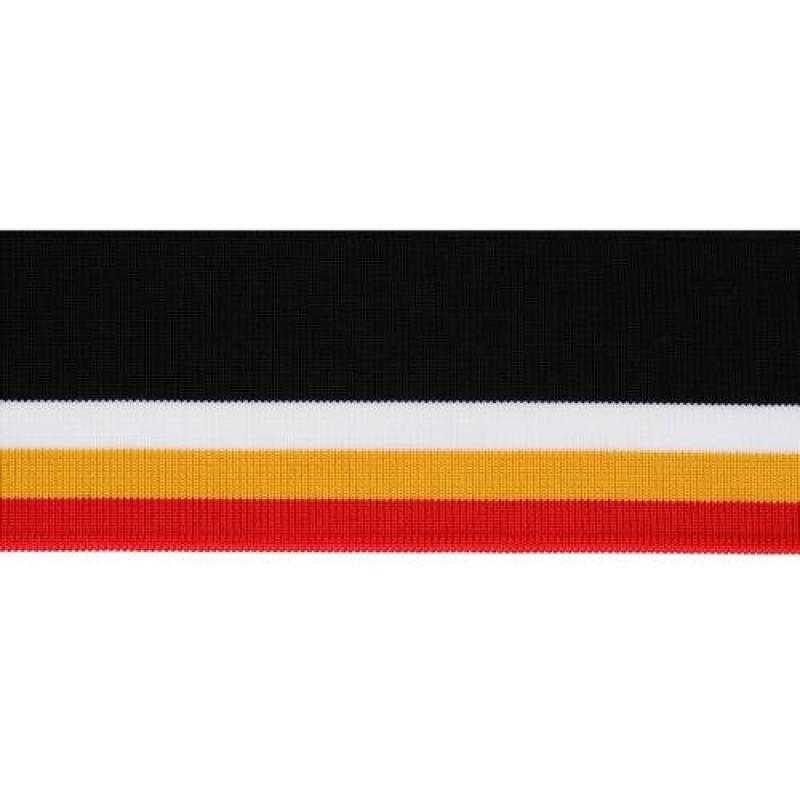 Подвяз полиэстер 1*1, 6*120см, цв: черный/красный