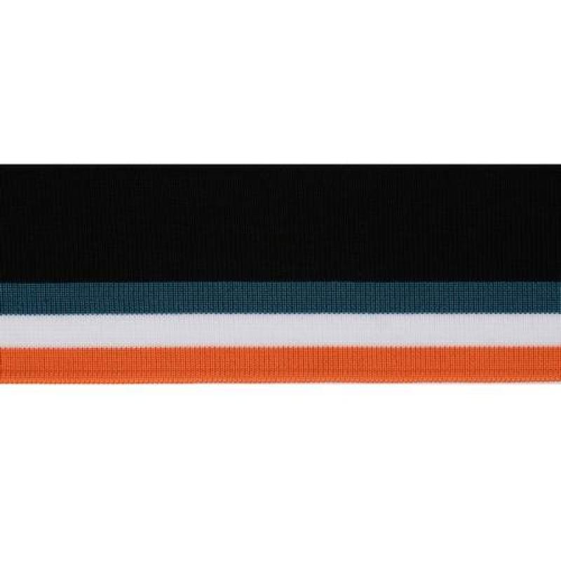 Подвяз полиэстер 1*1, 6*120см, цв: черный/оранжевый