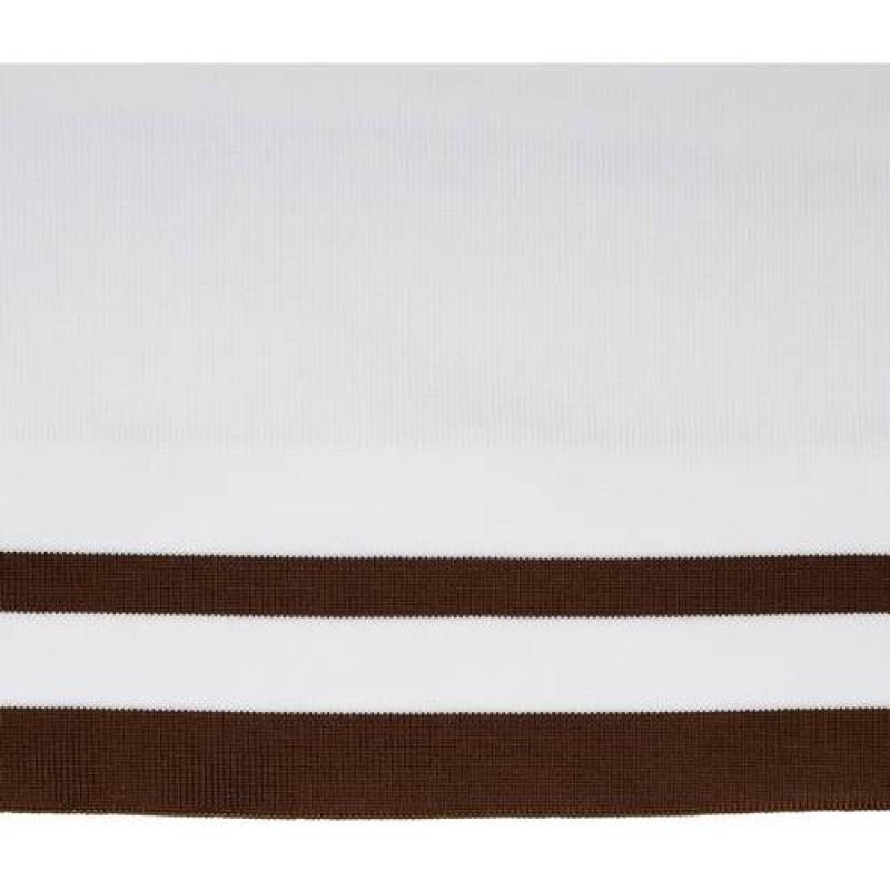 Подвяз полиэстер 1*1, 15*115см, цв: белый/коричневый