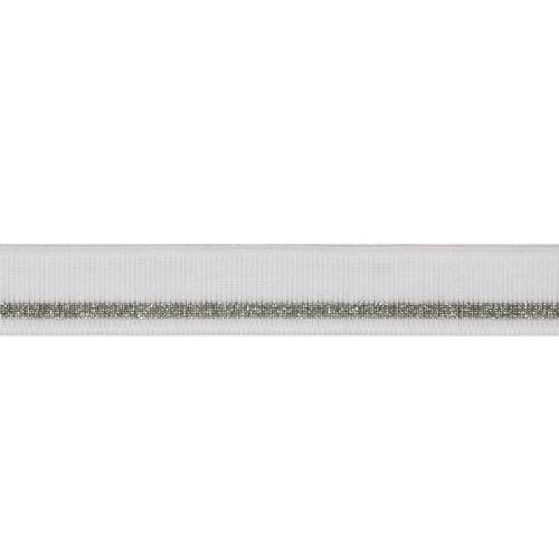 Подвяз из вискозы с люрексом, переплетение 1*1, двухцветный