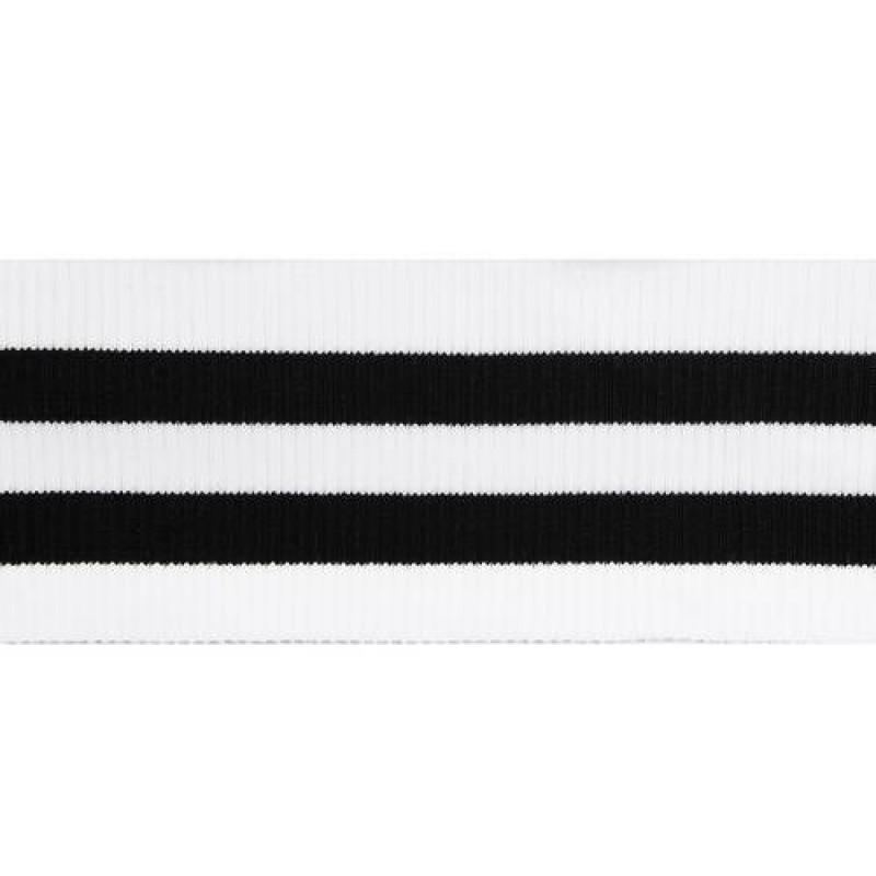 Подвяз акрил 2*2, 8*80см, цв: белый/черный
