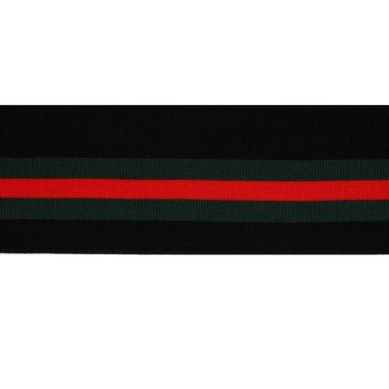 Подвяз 1*1 полиэстер 6,5*100см, цв:черный/зеленый/красный